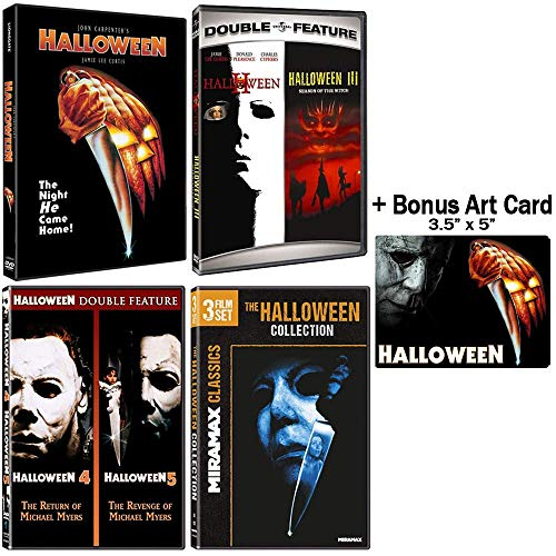 Halloween: Complete 8 Movie DVD Collection with Bonus Art Card -