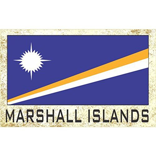 Flag Fridge Refrigerator Magnets - Asia & Africa Group 2 (Country: Marshall Islands)