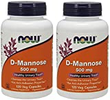 #7: NOW Foods D-Mannose 500 mg, 120 Vegetable Capsule (2 Pack)