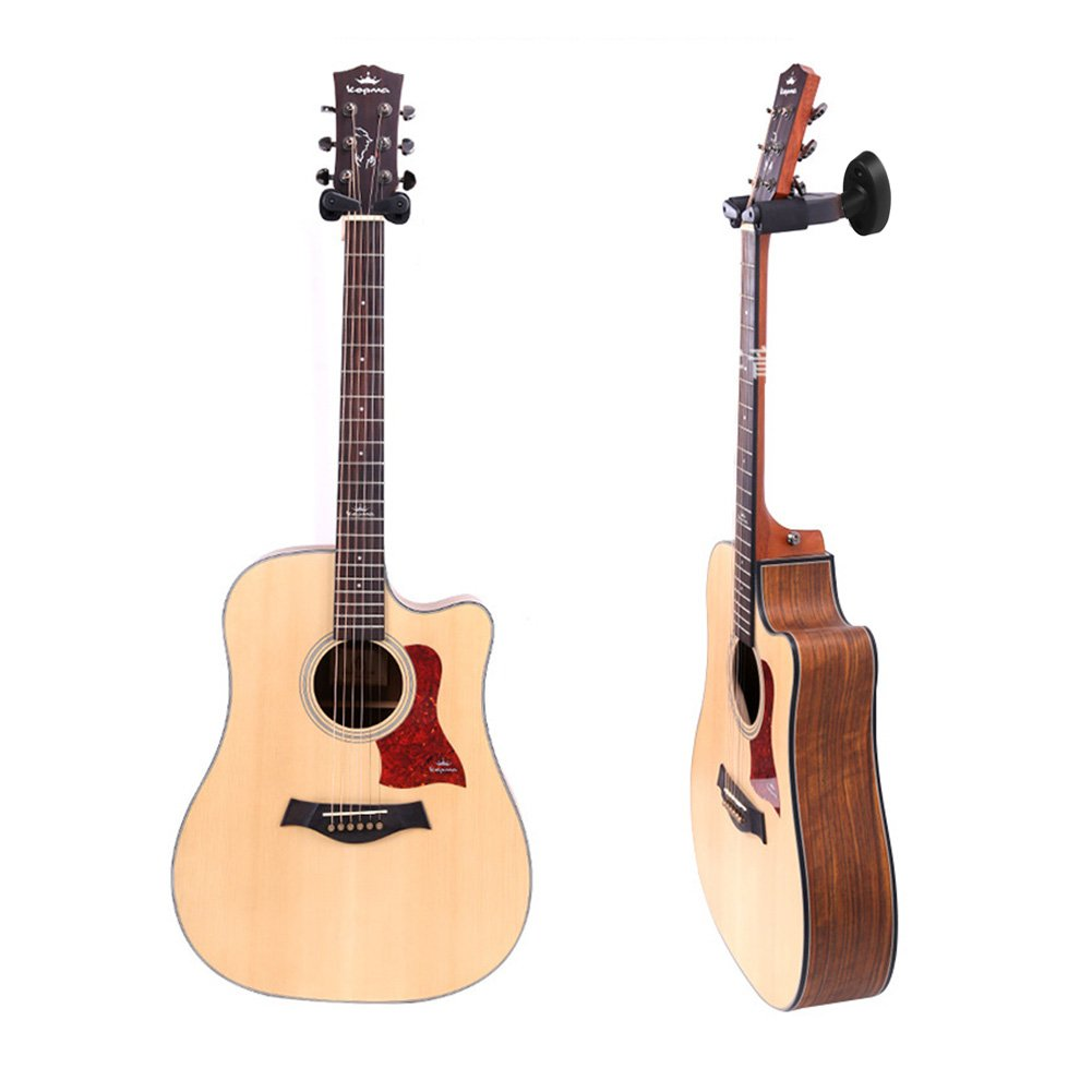 Soporte Pared Guitarra, Yuccer 2 Paquetes Ajustable Colgador de Guitarra Eléctrica Portátil para Colgar Guitarra para Bajo, Banjo, Ukelele (negro) (3 ...