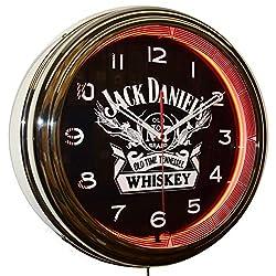 Jack Daniel's Old No. 7 Whiskey 15 Neon Advertising Clock Man Cave Decor