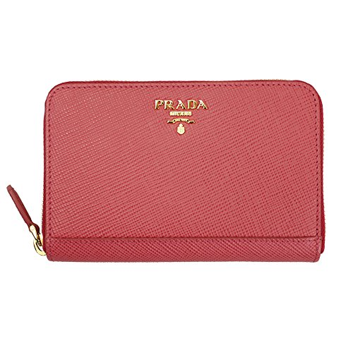 Prada Pink Saffiano Leather Long Wallet 1ML157 Tamaris Zip Around (Prada Long Wallet)