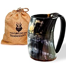 Norse Tradesman Genuine Viking Drinking Horn Tankard (1, The Eternal XXL)