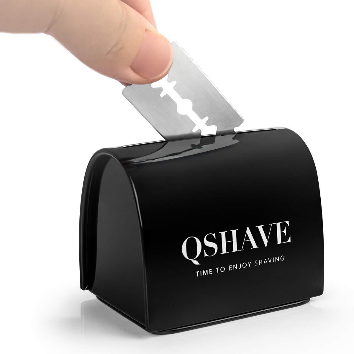 QSHAVE Blade Disposal Case Safe Storage Bank for Used Safety Razor Blades