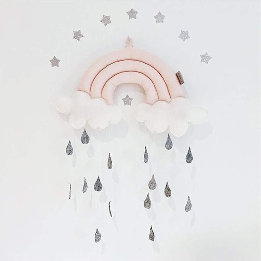 Lit de b/éb/é pendentif jouet p/épini/ère accessoires accessoires suspendus mobiles nuage de pluie Pink
