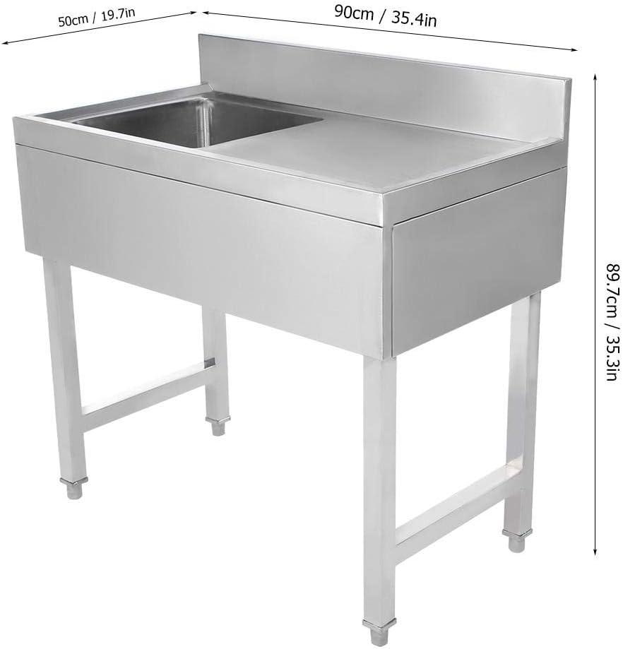 50 80cm Lyrlody Lavello Cucina 1 Vasca Lavello In Acciaio Inossidabile Piano Di Lavoro In Acciaio Inox Con Un Bordo Adatto A Famiglie Di Hotel 90 Vasca Singola Fai Da Te Aaaid Org
