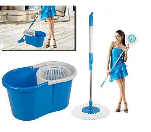 Cubo + Fregona (Giratorio 360º) con mango extensible MAGIC MOP - LIFETIME CLEAN 53922 - Limpieza del hogar - mws2080: Amazon.es: Hogar