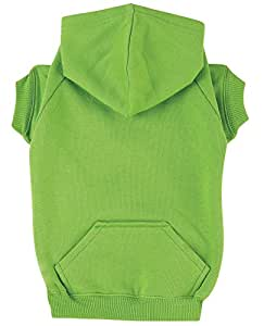 """Zack & Zoey Basic Hoodie for Dogs, 12"""" Small, Parrot Green"""