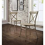 Collins Distressed White Dining Chair, 2Pk