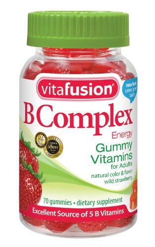Vitafusion B Complex Vitamines Gummy pour les adultes, 70 jujubes, Bouteille (Pack de 3)