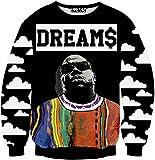 Pizoff Long Sleeve colorful Street Rock Style Print Basketball Sweatshirts Y1759-N8-M