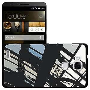 Print Motif Coque de protection Case Cover // M00153946 Antecedentes grunge pálido triste Negro // Huawei Ascend Mate 7