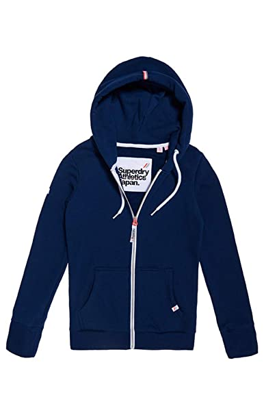 Superdry La Athletic Ziphood, Sudadera para Mujer, Azul (City Night Navy Xoh)