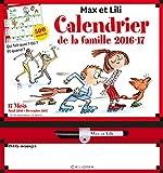 Calendrier de la famille Max et Lili 2016-2017