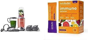 NutriBullet NB9-1301COR Pro 13 Pcs Coral with SuperFood Immune Defense Boosts - 14 Single Serve Packs