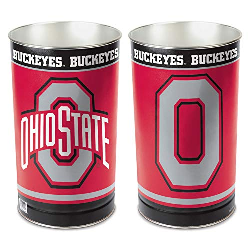 Wastebasket Ohio State - WinCraft NCAA Ohio State University Tapered Wastebasket, 15