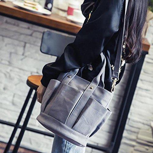 Continuar Escolares bolsos Jyc Mujer Mujer bolsos bolsos Mano Bandolera Mujer De estuches Linterna Lona Para bolsas exterior Bolso blanco Gris mochila Comercio Tipo Totalizador 88qnvxFU