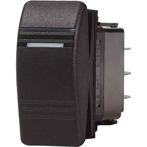 1 - Blue Sea 7945 Contura III Switch SPDT - (ON)-OFF-ON - Black