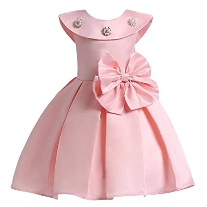 Sofyana Baby - Girl's Row Silk Box Pleat Frock For kids_S_D_203_Peach Girls' Dresses & Jumpsuits at amazon