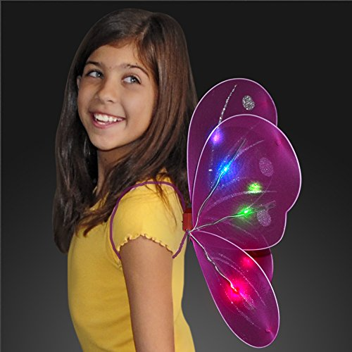 FlashingBlinkyLights Light Up Fuchsia Fairy Wings