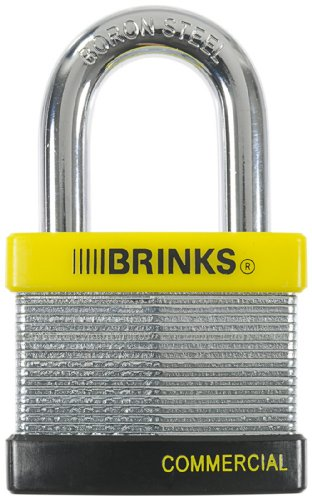 Brinks 662-50091 50mm Commercial Laminated Steel Padlock with Boron Shackle