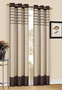 CS Mocha Grommet Window Curtain Panel 40 x 84""