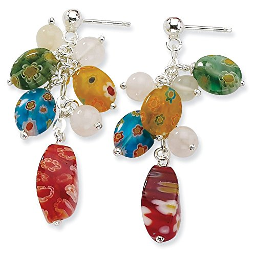 Top 10 Jewelry Gift Sterling Silver Kung Sei Beads & Quartz Earrings
