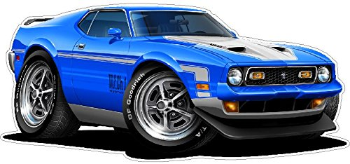 1971-1972 Mach 1 WALL DECAL Vintage 3D Car Movable Stickers Vinyl Wall Stickers for Kids Room