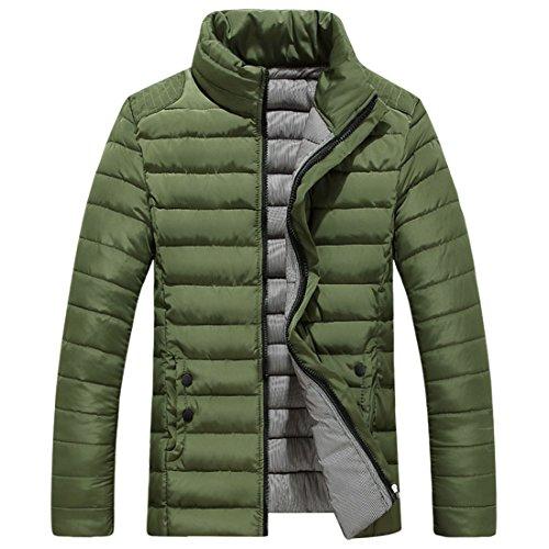 Basamento Solida Il Verde Trapuntato Fit Outwear Palla Uomini Pesce Collare Cappotto Giù Slim Di Del Spessore Grmo qWIRwz7n