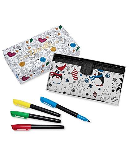 Doodlz Coloring Wallet Penguin