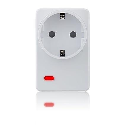 Blaupunkt Security PSM-S1 - Enchufe Inteligente WIFI Inalámbrico con Medidor de Energía, compatible con los Sistemas de Alarma Serie Q de Blaupunkt