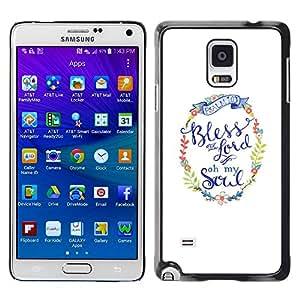[Neutron-Star] Snap-on Series Teléfono Carcasa Funda Case Caso para Samsung Galaxy Note 4 [ Christian Religion Weiß Kranz]