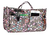 Printed Purse Insert Organizer,14 Pockets Zipper Closed Handbag Liner Bag In Bag (Cartoon rabbit)