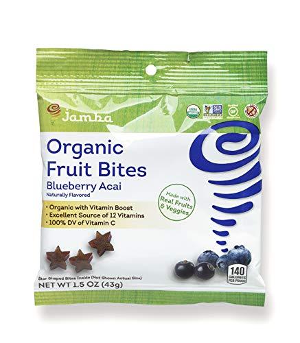 Jamba Organic Fruit Bites | Gluten Free Healthy Snacks (12 1.5 oz pouches) (Blueberry Acai)
