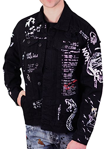 Jordan Craig Legacy Edition Graffiti Denim Jacket by Jordan Craig