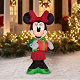 Airblown Christmas Inflatable Minnie w/ Present 5 Tall