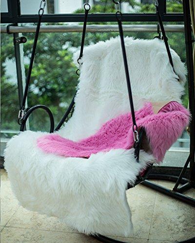 HLZDH Faux Fur Soft Fluffy Single Sheepskin Stule Style