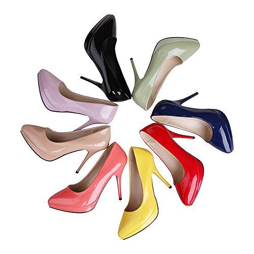 Pointed Heel Thin Work Women High 37 purple Club Shoes Night Xw1qqv