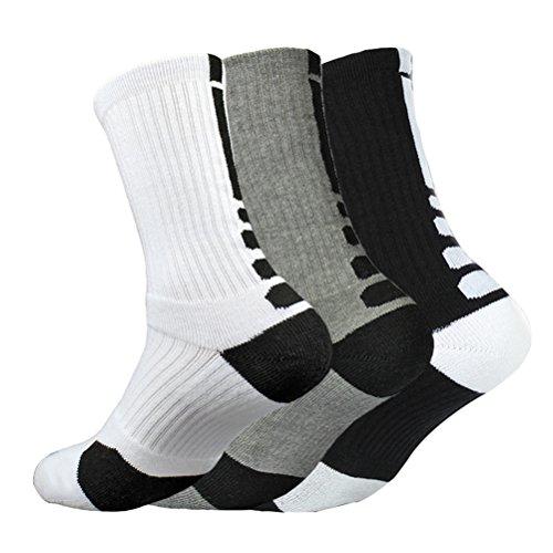 Basketball Socks (Dri-fit Cushion Basketball Crew Socks - 3 Pair Pack)