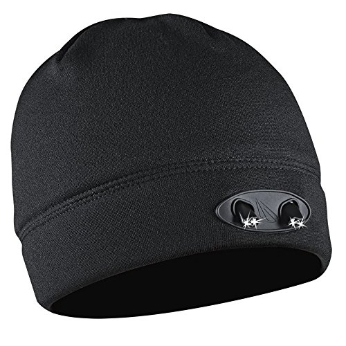 Led Cap (Panther Vision CUBWB-4553 Headlamp 4 LED Warm Beanie Cap - Hands-Free for Jogging, Biking, Camping, Sports Games, Fishing, Auto and Home Repair )