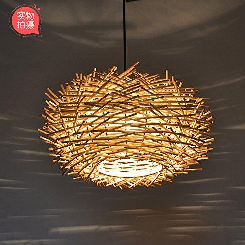 30 Cm Rattan Natürliche + Normale Glühbirne  TIANLIANG04 lustres Cafe des lustres lustre,rougein nid d'oiseaux s'allume,30cm balcon naturel rougein