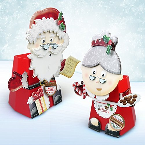 Santa Claus & Mrs Claus Box-Pops! Bobble Head Card Kit by Hunkydory (Mrs Claus Plus)