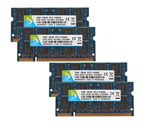 (DUOMEIQI (4 X 2GB) 2RX8 PC2-5300 PC2-5400 DDR2 667MHz CL5 200 Pin 1.8v SODIMM Notebook RAM Non-ECC Unbuffered Laptop Memory Module Compatible with Intel AMD System)