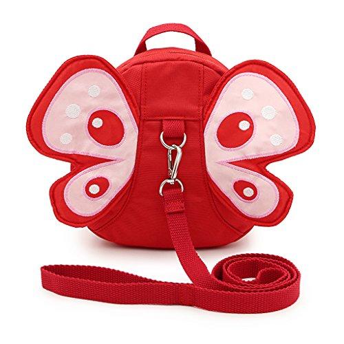 Baby Kids Toddler Walking Backpack Reins Bag(Pink) - 2