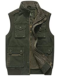 Mens High Quality Military Gilets Vest Outdoor Multi Pockets Sleeveless Jacket Top