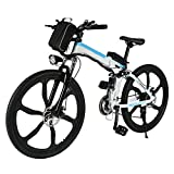 Pro Folding 250W 26″ Speed Electric Power Mountain Bicycle with Large Lithium-Ion Battery (US STOCK) (White) Review