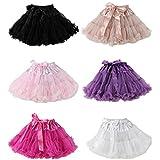 2017 Fluffy Girls' Fancy Tutu Pettiskirt Princess Tulle Ballet Skirt Ball Gown For Wedding/school's Activities(6Piece/Set,M)