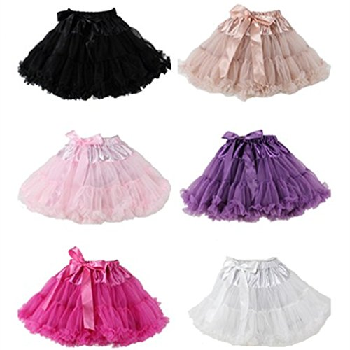 [2017 Fluffy Girls' Fancy Tutu Pettiskirt Princess Tulle Ballet Skirt Ball Gown For Wedding/school's] (Dance Team Costumes Competition)