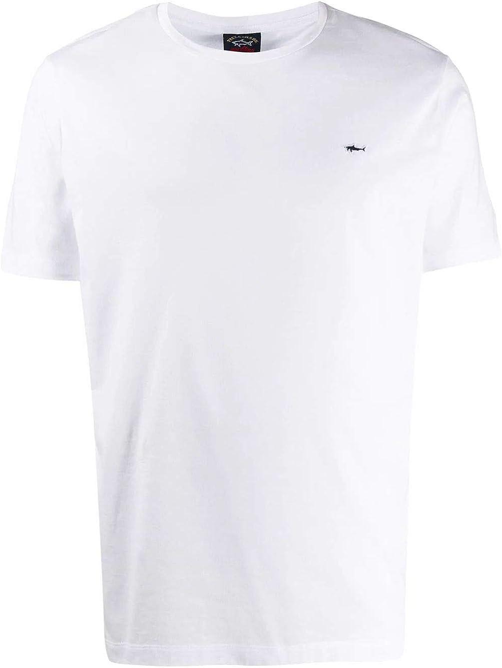 PAUL & SHARK Luxury Fashion Man E20P1074010 White Cotton T-Shirt   Spring Summer 20