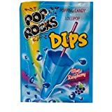 Pop Rocks Dips Sour Blue Raspberry 18ct.